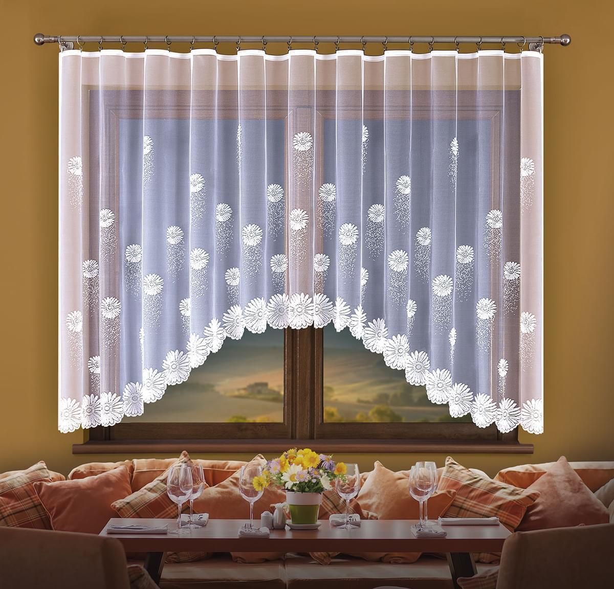 Forbyt, Hotová záclona, Flora, bílá 300 x 150 cm
