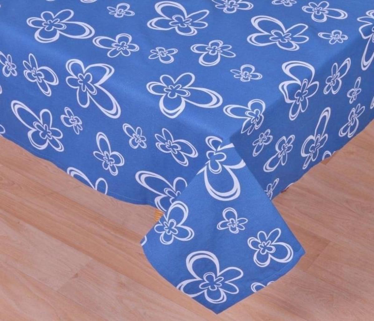 Forbyt, Ubrus bavlněný, Daisy, modrý 90 x 90 cm