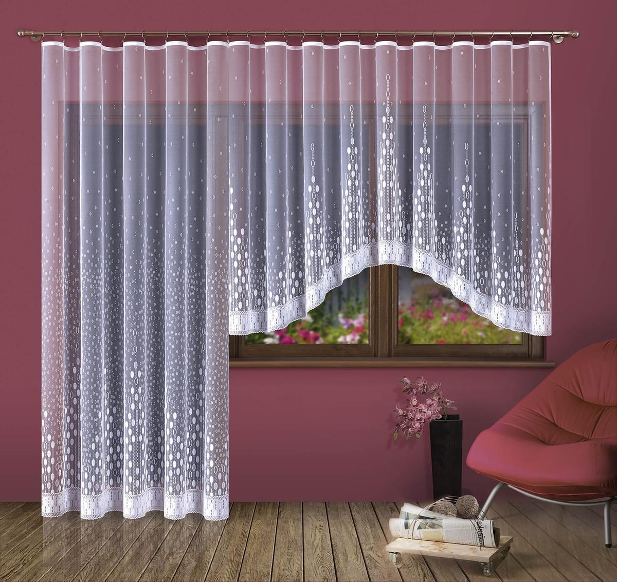 Forbyt, Hotová záclona nebo Balkonový komplet, Paula 380 x 170 cm