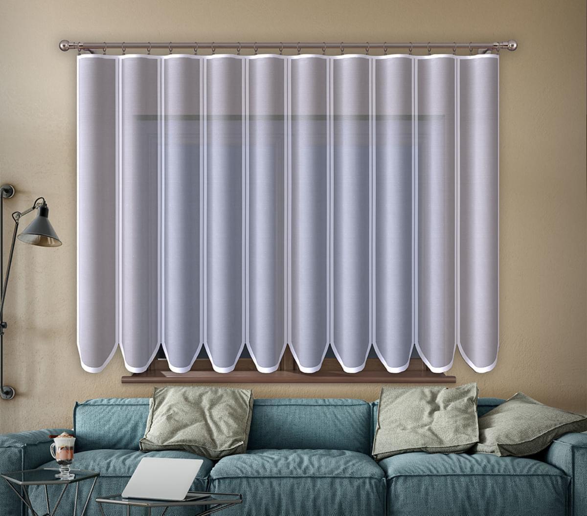 Forbyt, Hotová záclona nebo balkonový komplet, Edita, bílá 400 x 160 cm