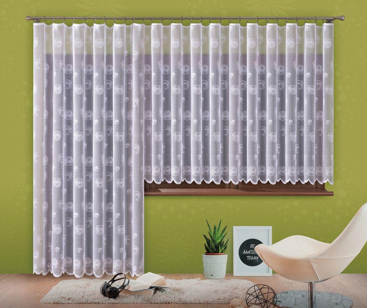 Forbyt, Hotová záclona nebo balkonový komplet, Sofie, bílá 400 x 160 cm