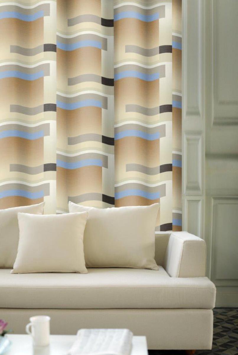Forbyt, Závěs dekorační, OXY Stripes modrý 150 cm