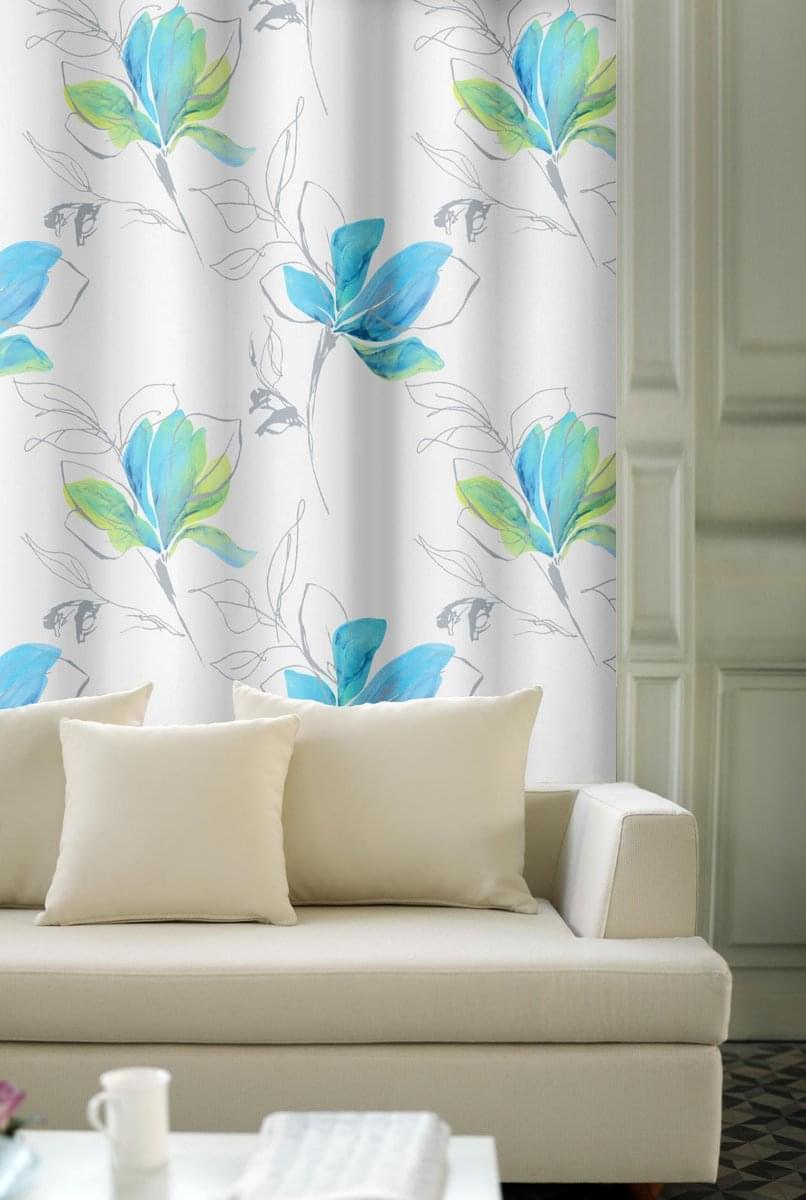 Forbyt, Závěs dekorační, OXY Magnolie, modrozelená, 150 cm