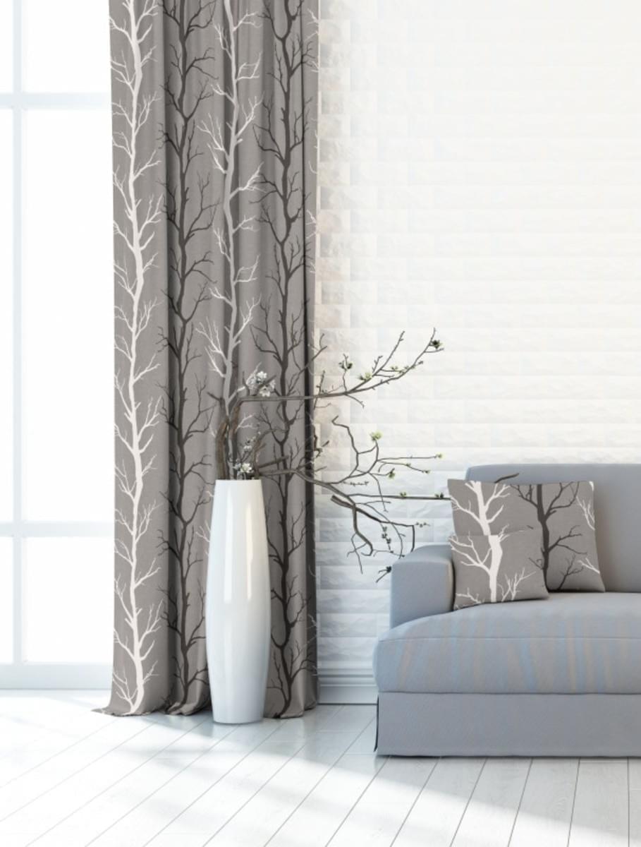 Forbyt, Dekorační látka nebo závěs, Blackout Strom 150 cm, šedý