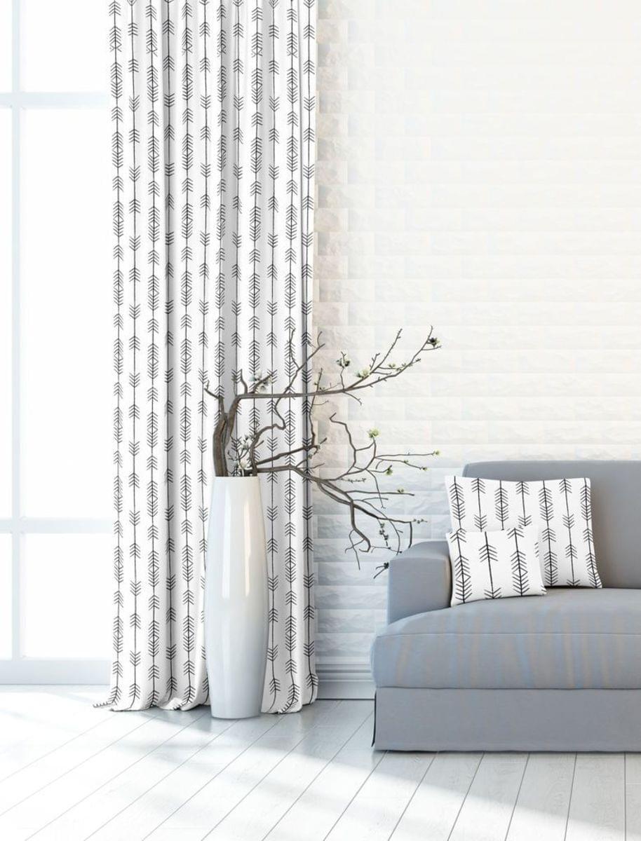 Forbyt, Dekorační zatemňovací látka nebo závěs, New York Indian 150 cm, černobílá