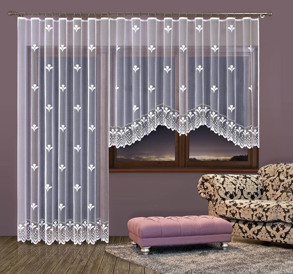 Forbyt, Hotová záclona nebo Balkonový komplet, Petra 400 x 160 cm