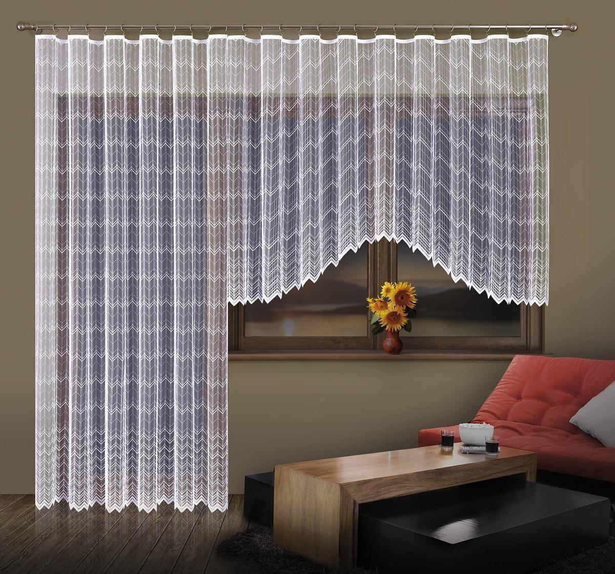 Forbyt, Balkonový záclonový komplet Margarita 350 x 160 cm + 200 x 250 cm