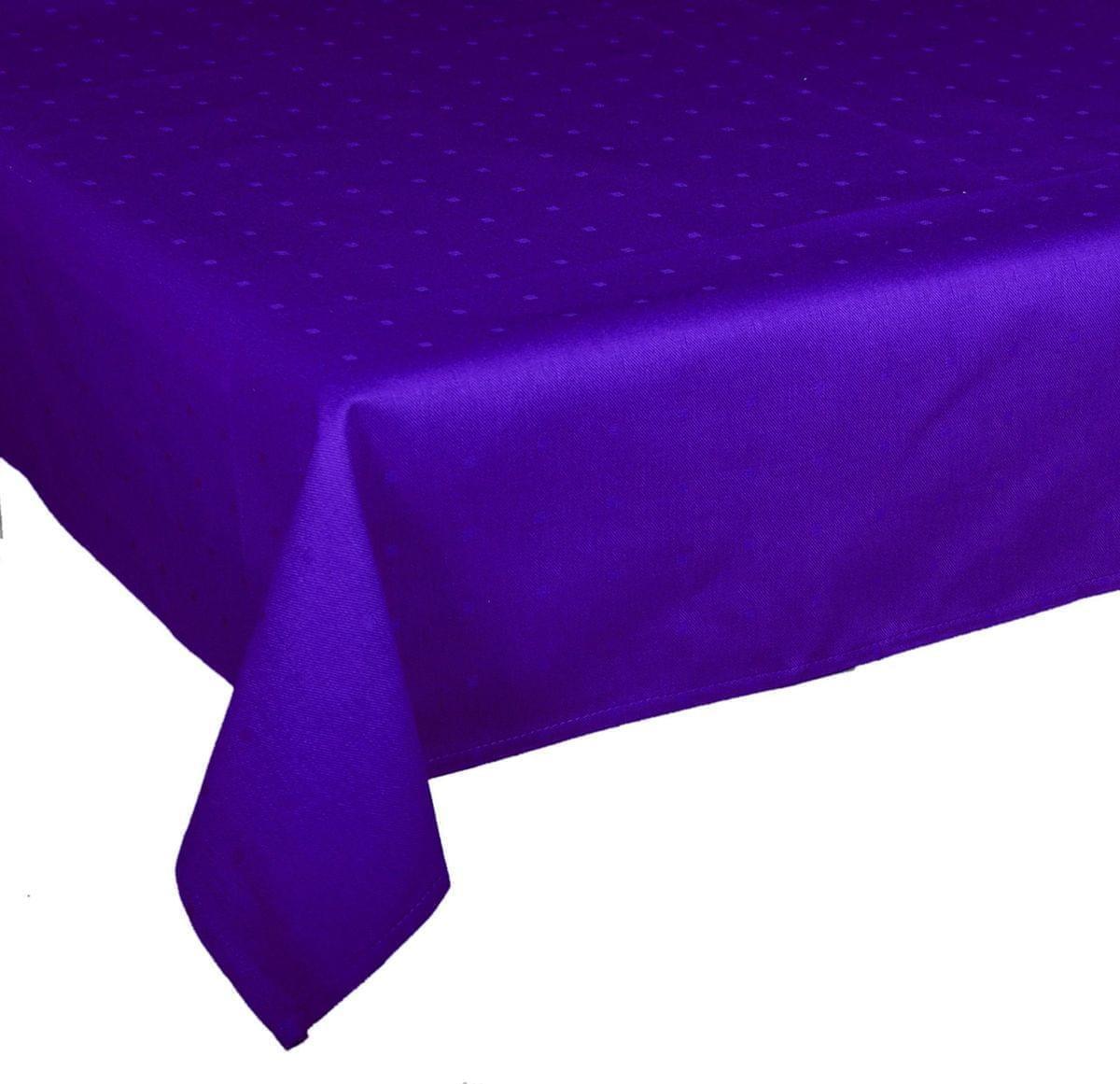 Forbyt, Ubrus bavlněný, Aligátor kostičky, tmavě modrý 50 x 100 cm