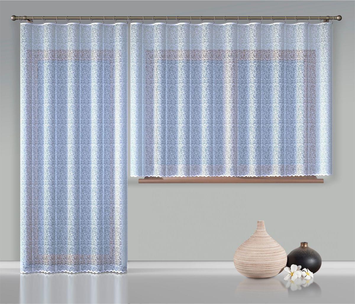 Forbyt, Hotová záclona nebo balkonový komplet, Anita, bílá 400 x 150 cm