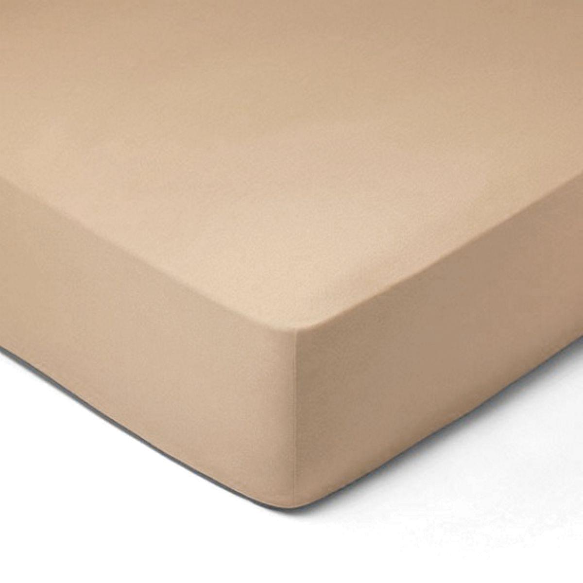 Forbyt, Prostěradlo, Jersey, capucino 120 x 200 cm
