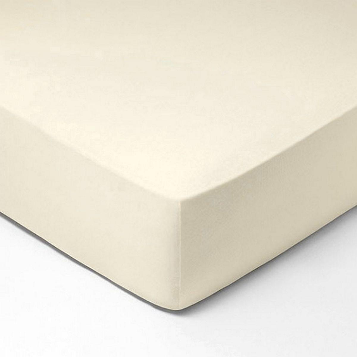 Forbyt, Prostěradlo, Jersey, krémová 120 x 200 cm