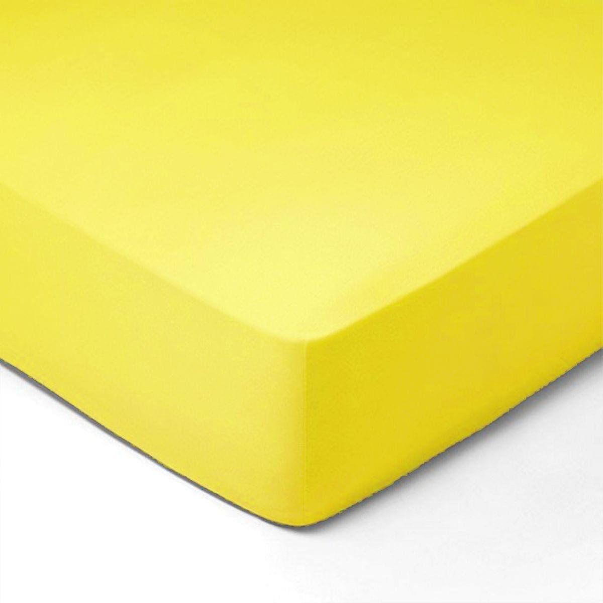 Forbyt, Prostěradlo, Jersey, světle žlutá 140 x 200 cm