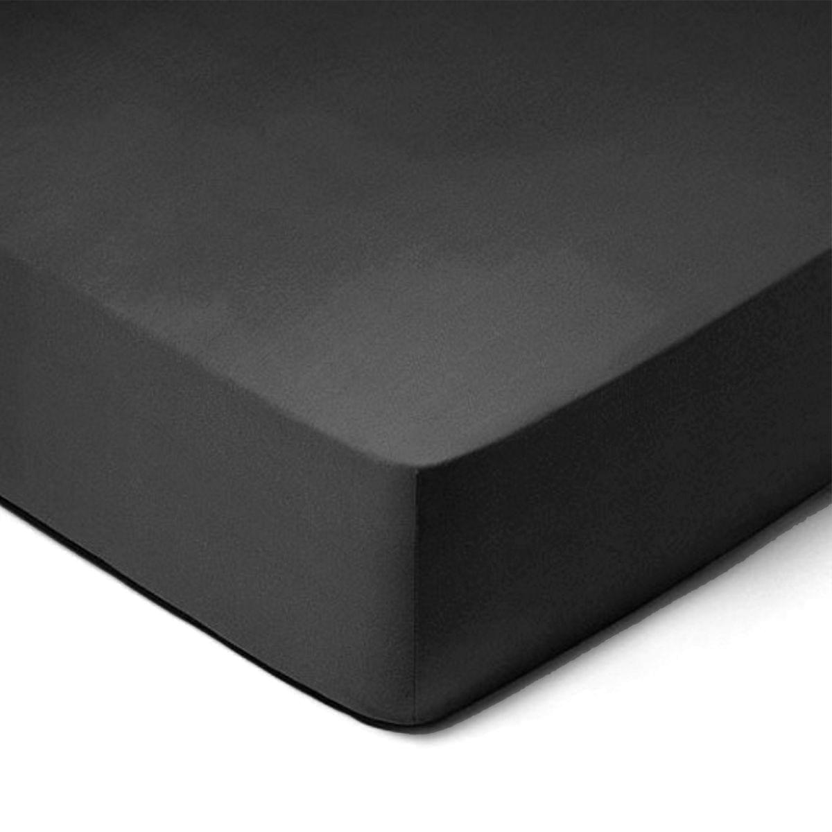 Forbyt, Prostěradlo, Jersey, černá 180 x 200 cm