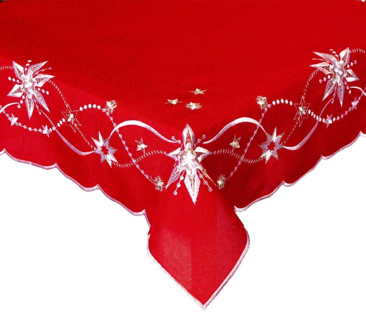 Forbyt, Vánoční ubrus, Korálová hvězda, červený 120 x 140cm