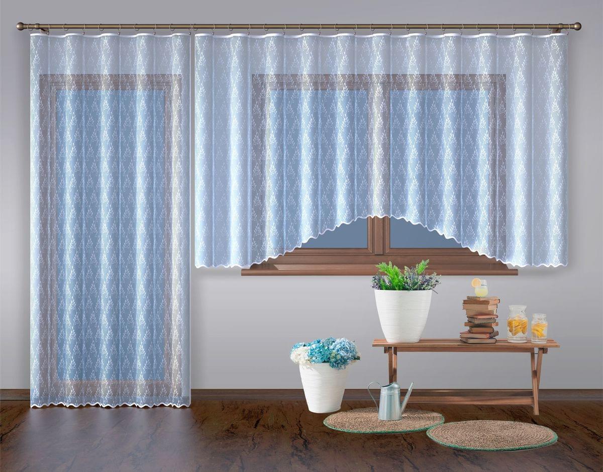 Forbyt, Hotová záclona nebo balkonový komplet, Diana, bílá 500 x 160 cm