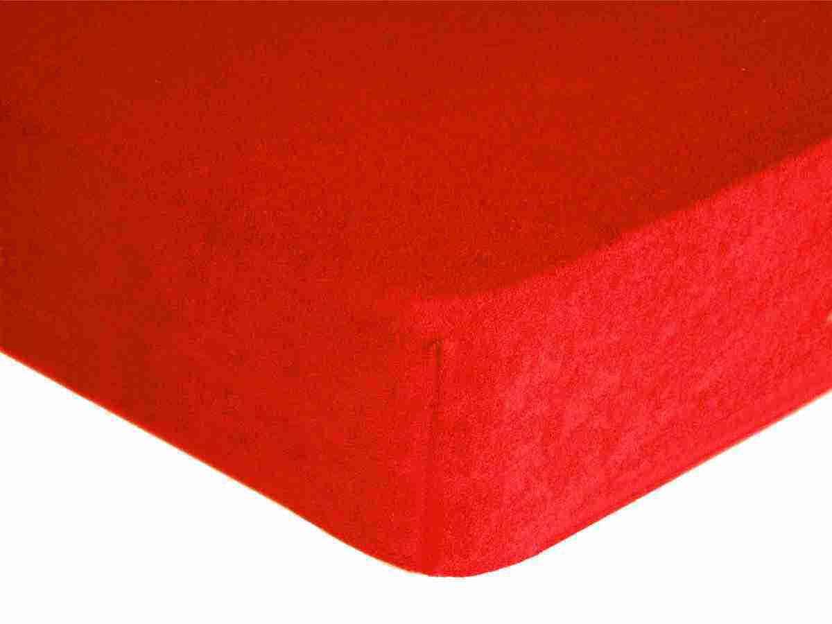 Forbyt, Prostěradlo, Froté Premium, červené 140 x 200 cm