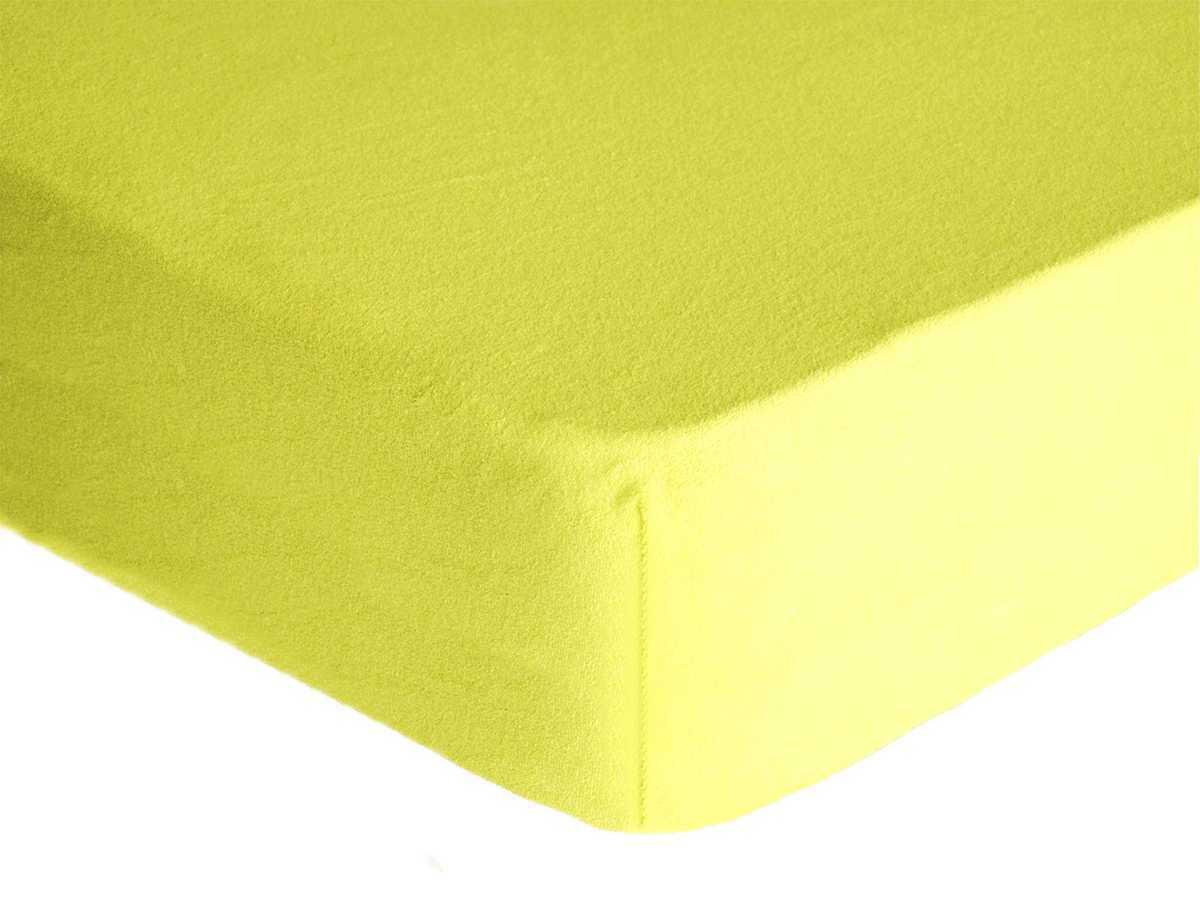 Forbyt, Prostěradlo, Froté Premium, světle žluté 140 x 200 cm