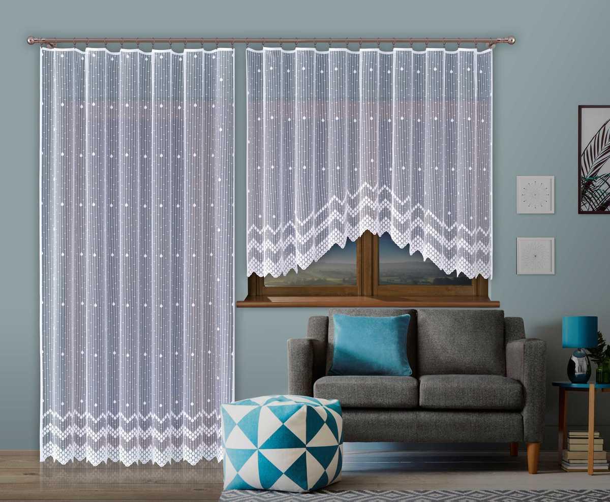 Forbyt, Hotová záclona nebo balkonový komplet, Martina, bílá 280 x 140 cm