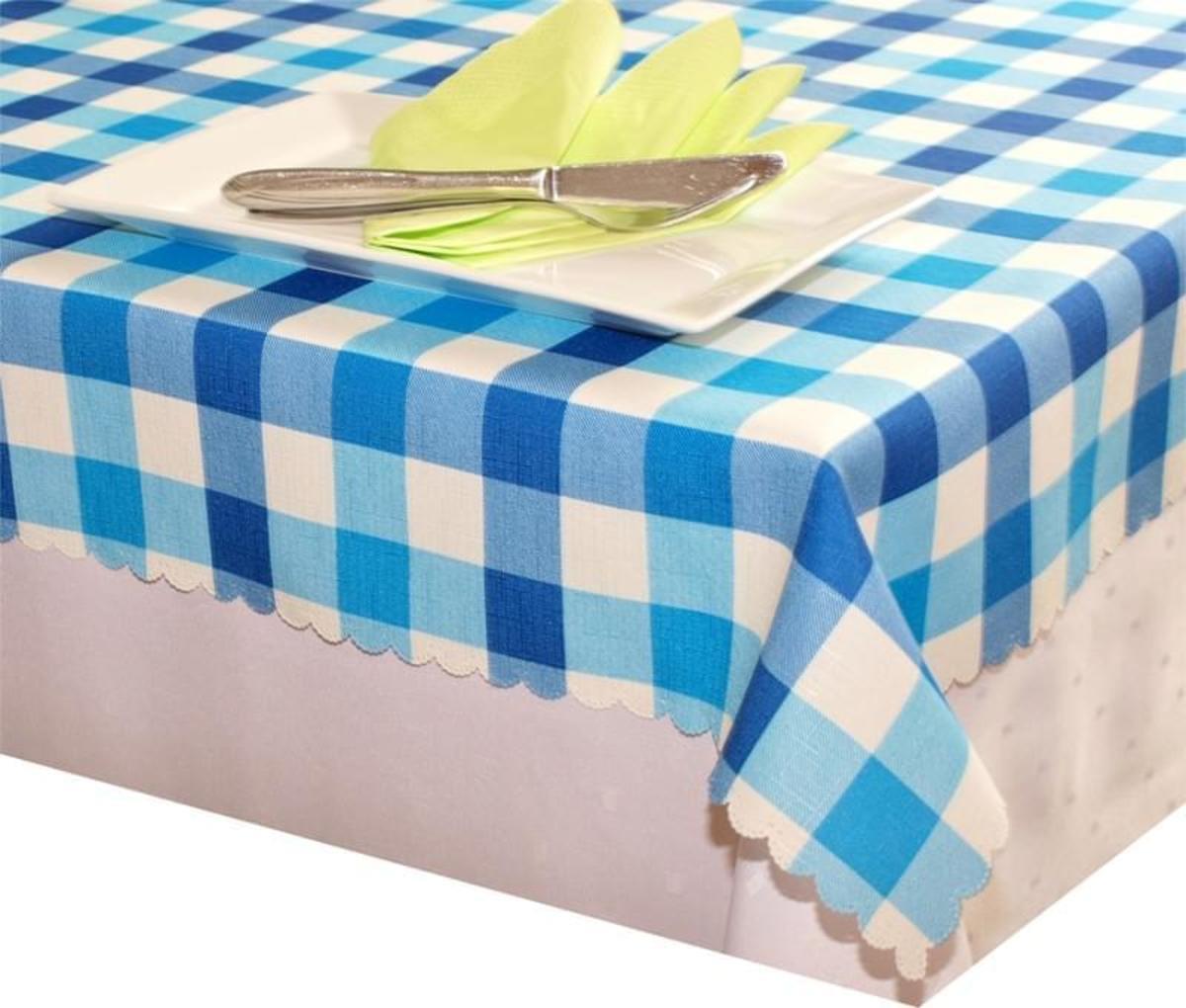 Forbyt Ubrus s nešpinivou úpravou, Kostka Modrá 50 x 100 cm