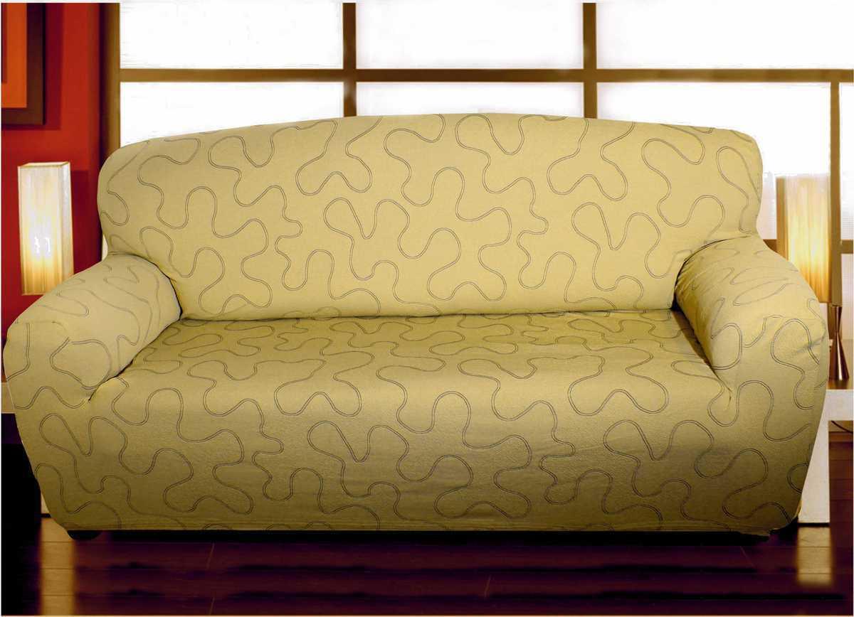 Forbyt, Potah multielastický na sedací soupravu, Lazos, béžový čtyřkřeslo - š. 220 - 260 cm