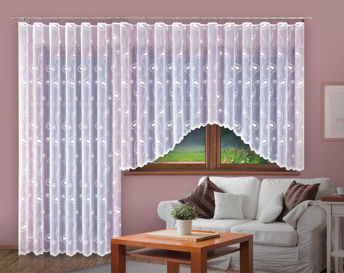 Forbyt, Hotová záclona nebo balkonový komplet, Margita, bílá 330 x 150 cm