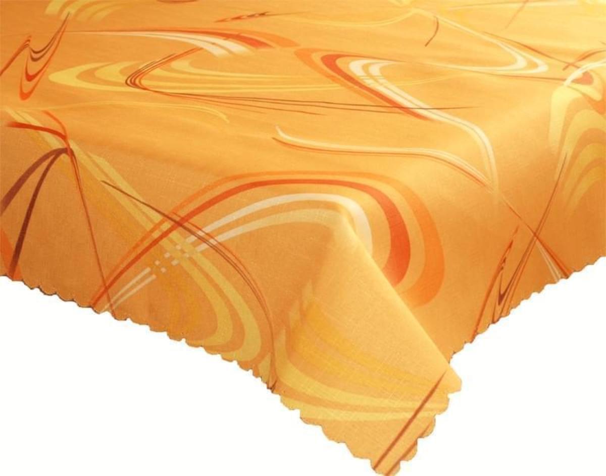 Forbyt Ubrus Dekorativní nešpinivý dezén Numero, Oranžový 50 x 100 cm