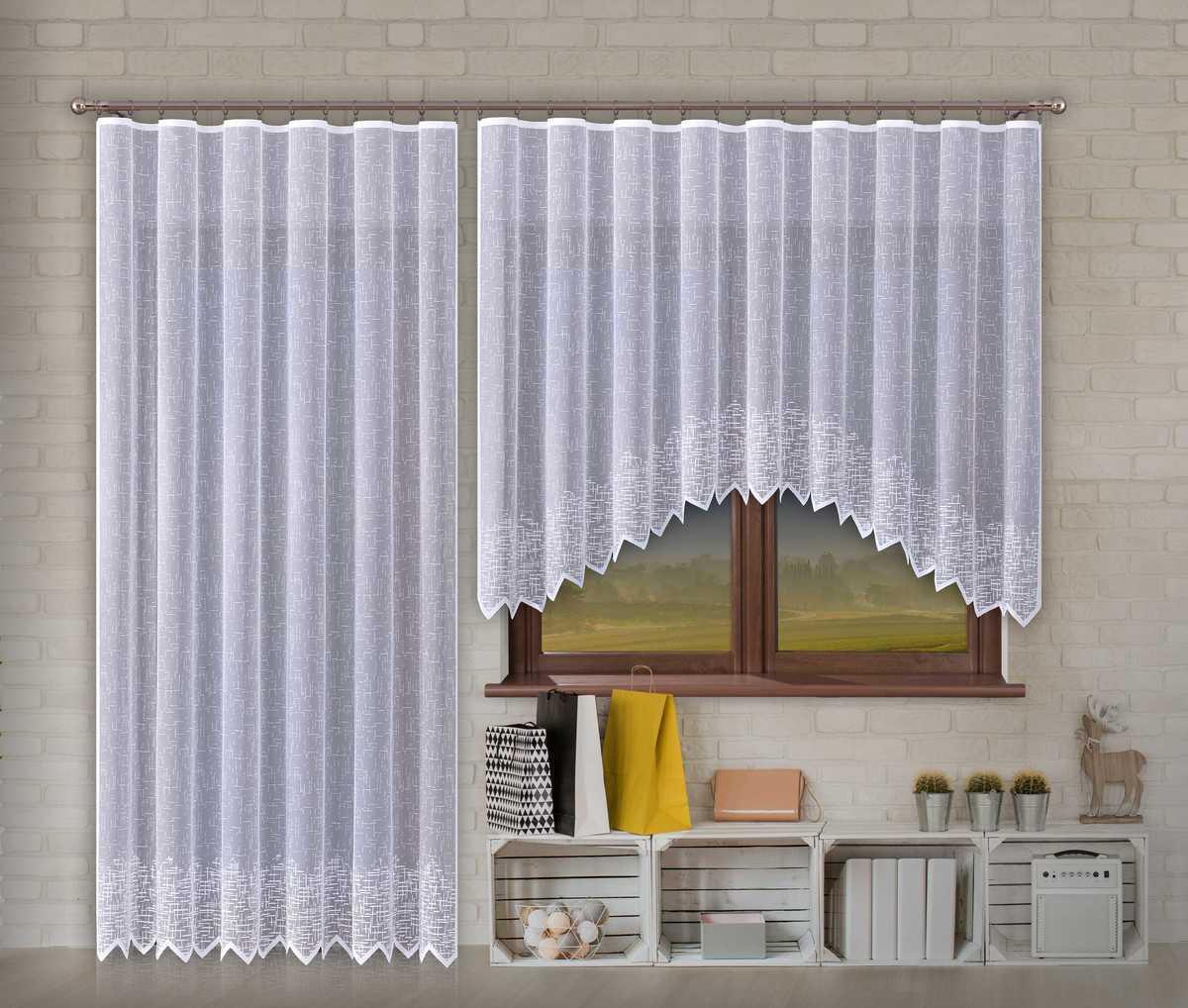 Forbyt, Hotová záclona nebo balkonový komplet, Olympia, bílá 300 x 150 cm