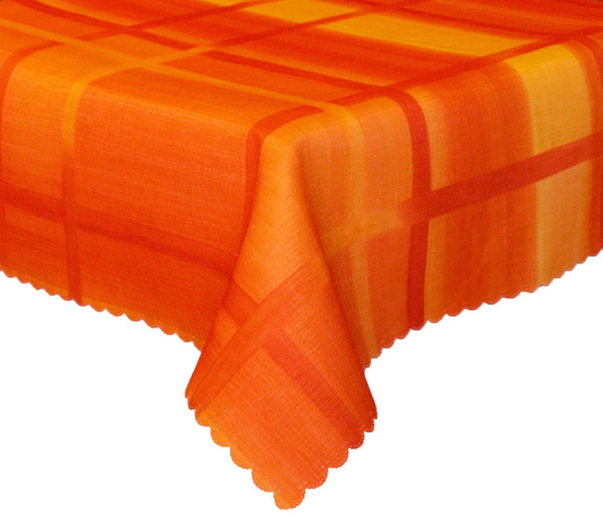Forbyt, Ubrus s nešpinivou úpravou Mřížka, oranžový 50 x 100 cm