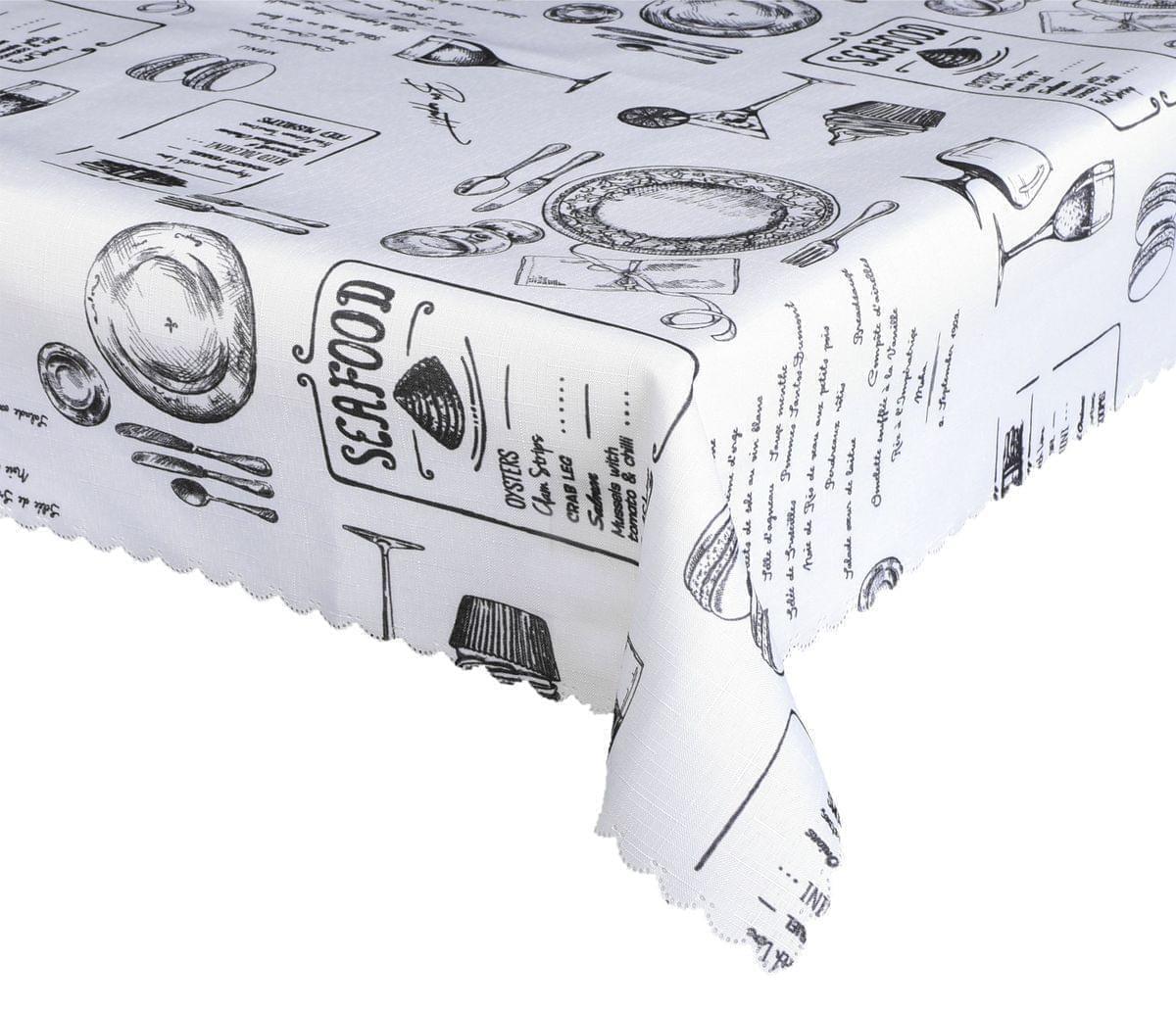 Forbyt, Ubrus s nešpinivou úpravou, Lunch,, černá 120 x 155 cm