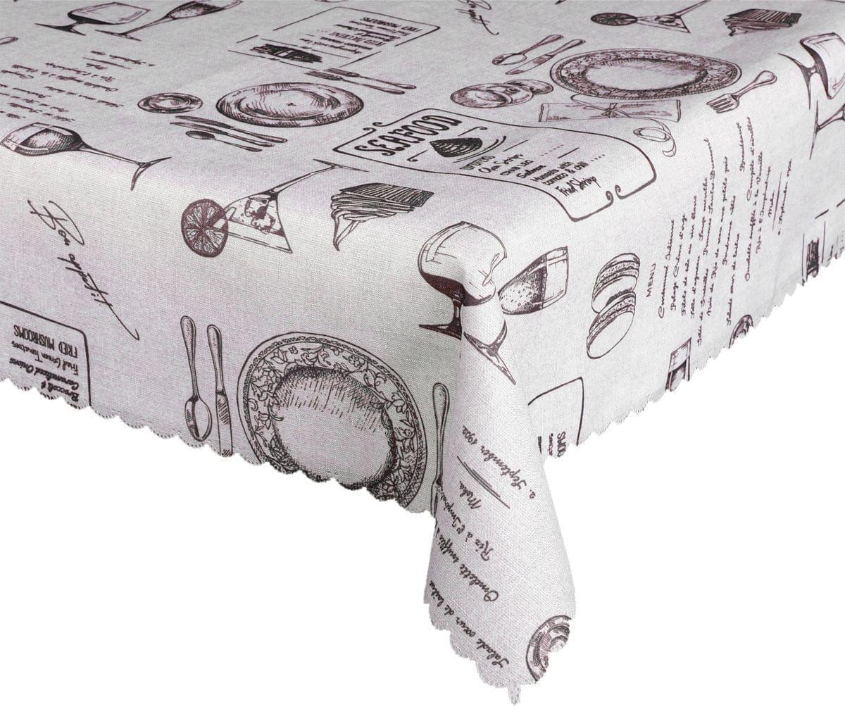 Forbyt, Ubrus s nešpinivou úpravou, Lunch, hnědá 120 x 155 cm