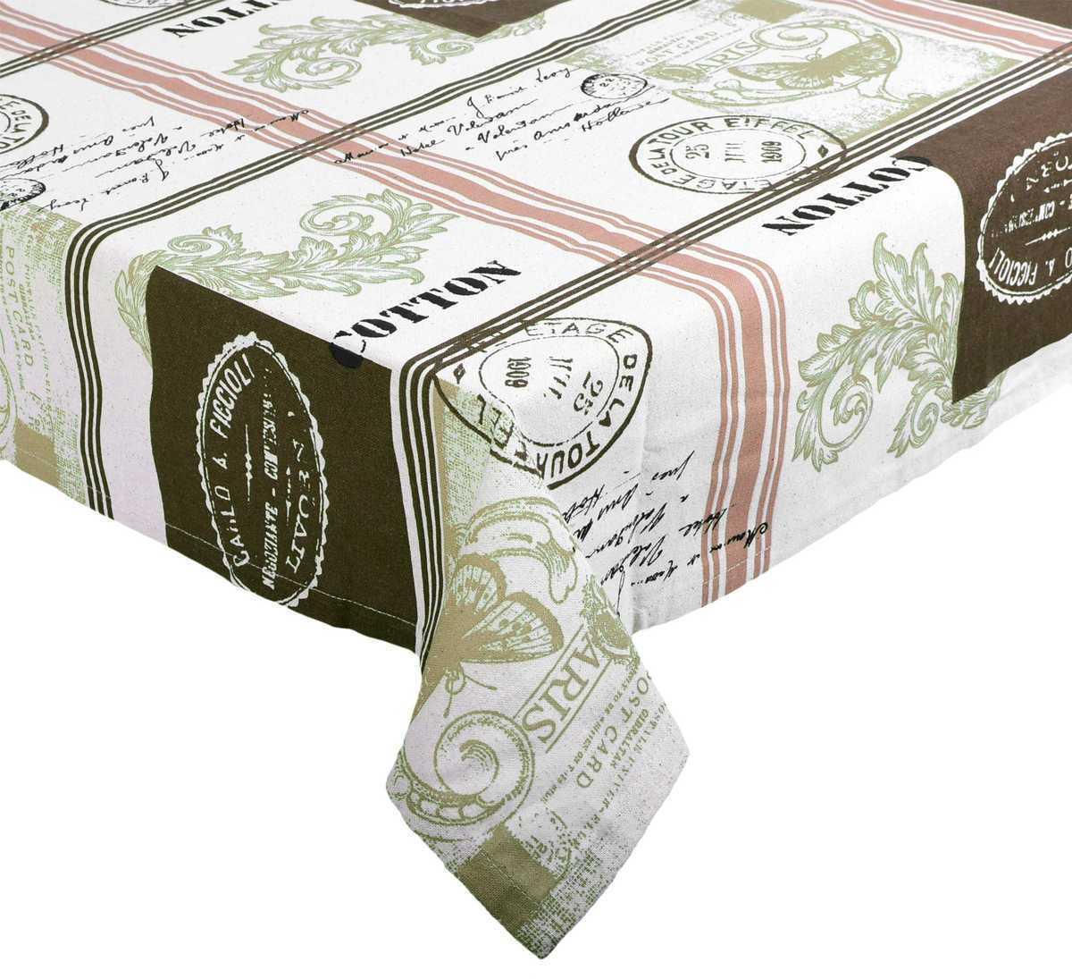 Forbyt, Ubrus bavlněný, Vintage Paris, hnědý 120 x 140cm