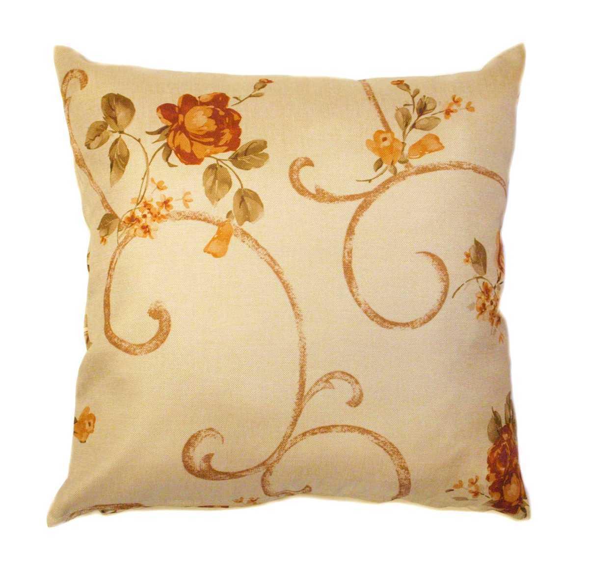 Forbyt, Návlek na polštář, OXY Vintage růže, oranžovohnědá, 45 x 45 cm