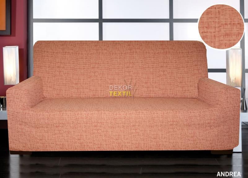 Forbyt, Potah elastický na sedací soupravu, Andrea, cihlová křeslo - š. 60 - 110 cm