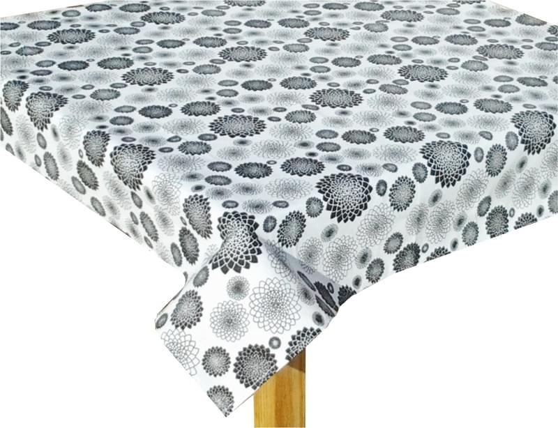 Forbyt Ubrus bavlněný, Černá květina 120 x 145 cm