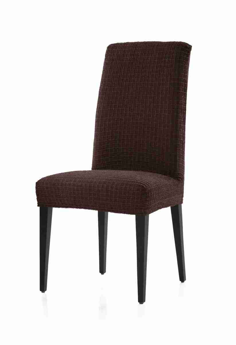 Forbyt, Potah multielastický na židle, Cagliari komplet 2 ks, hnědý