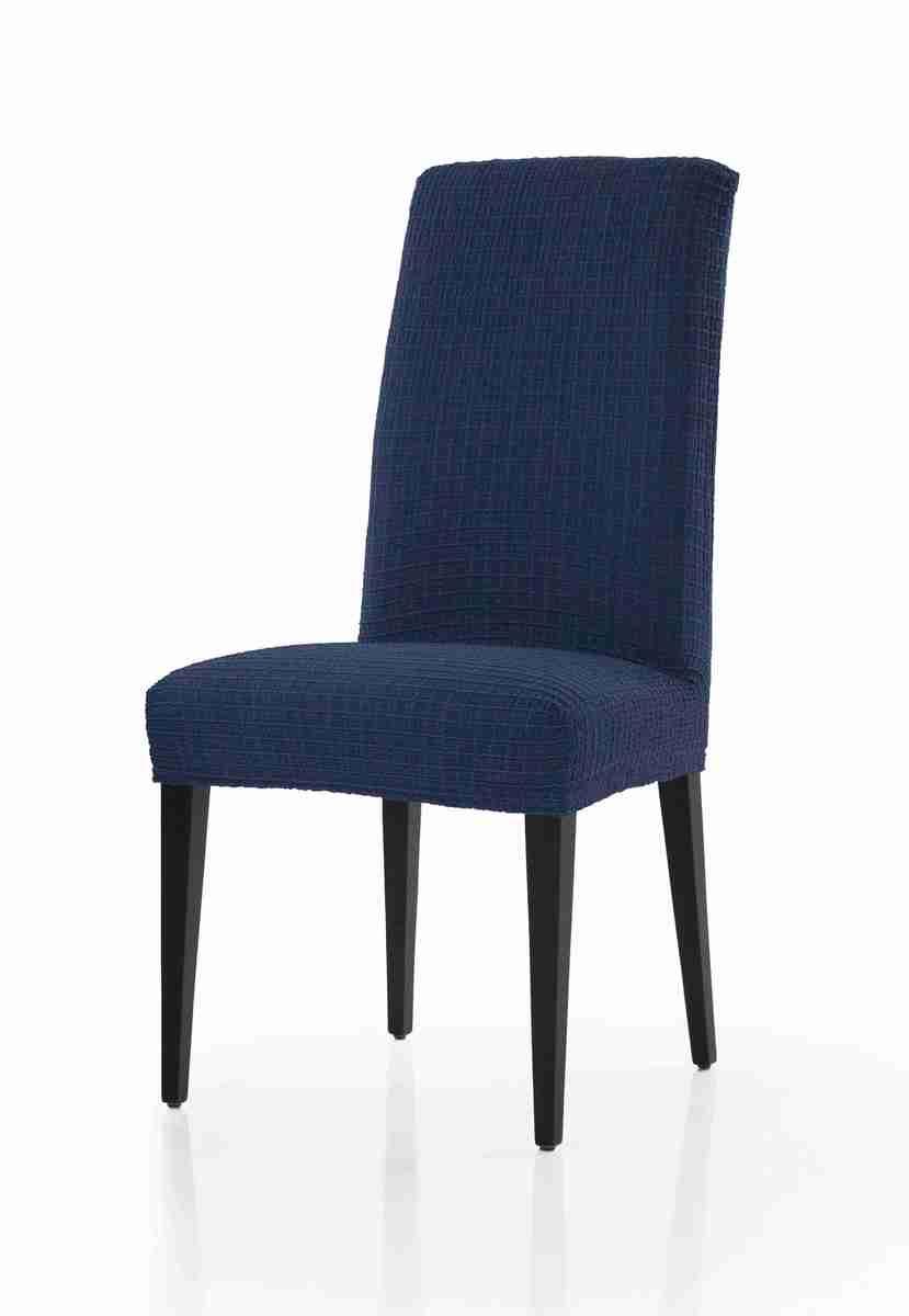 Forbyt, Potah multielastický na židle, Cagliari komplet 2 ks, tmavě modrý