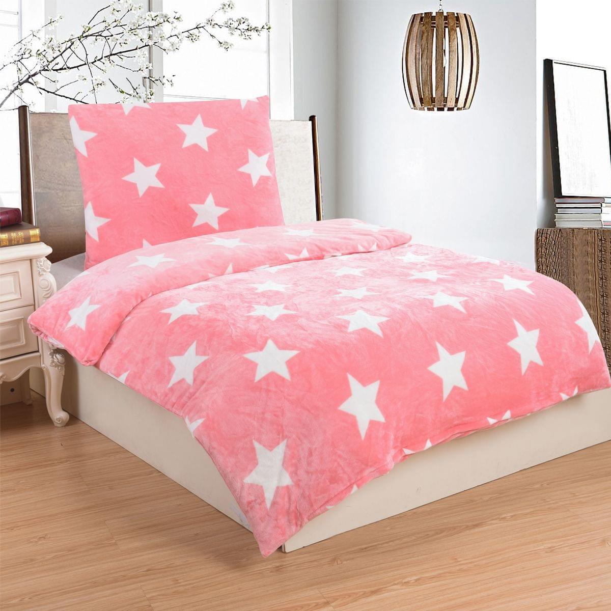 Forbyt, Ložní povlečení, Micro Stars pink