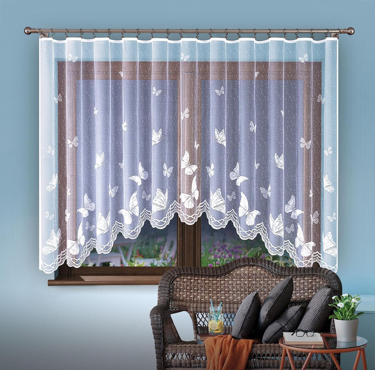 Forbyt, Hotová záclona, Emanuel, bílá 300 x 150 cm