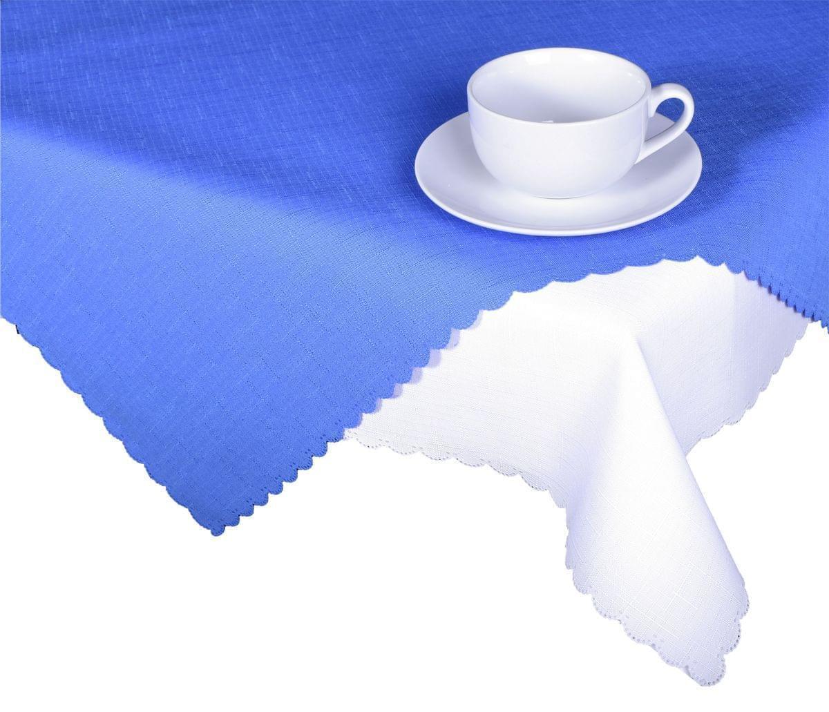 Forbyt, Ubrus s nešpinivou úpravou, Jednobarevný Deštík, modrý 160 x 220 cm