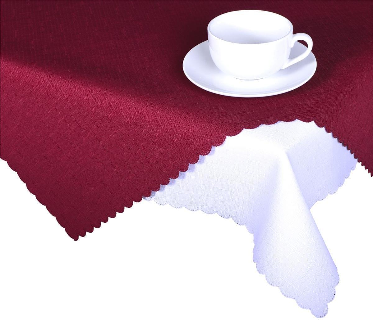Forbyt, Ubrus s nešpinivou úpravou, Jednobarevný Deštík, bordový 160 x 220 cm