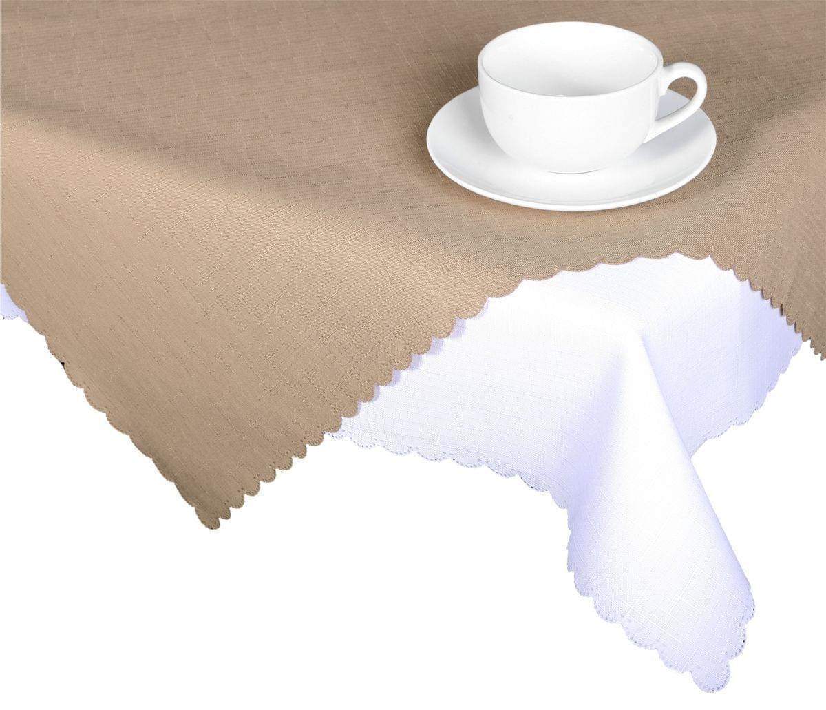 Forbyt, Ubrus s nešpinivou úpravou, Jednobarevný Deštík, kávový 160 x 220 cm