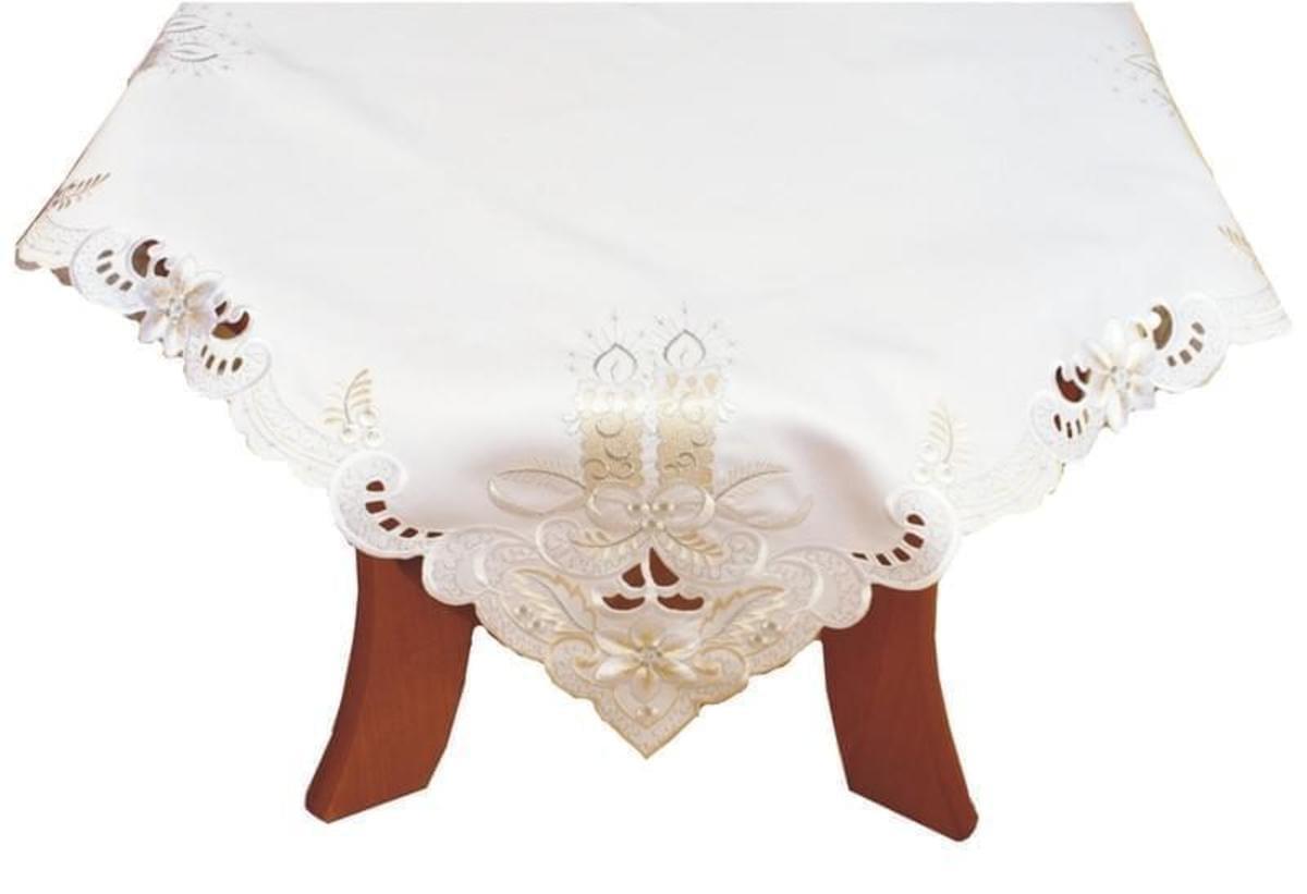 Forbyt Ubrus vánoční Bílý, 85 x 85 cm