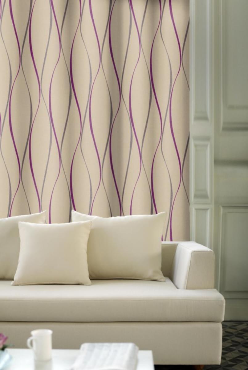 Forbyt, Dekorační závěs, OXY Vlnky tunýlkem, fialový 150