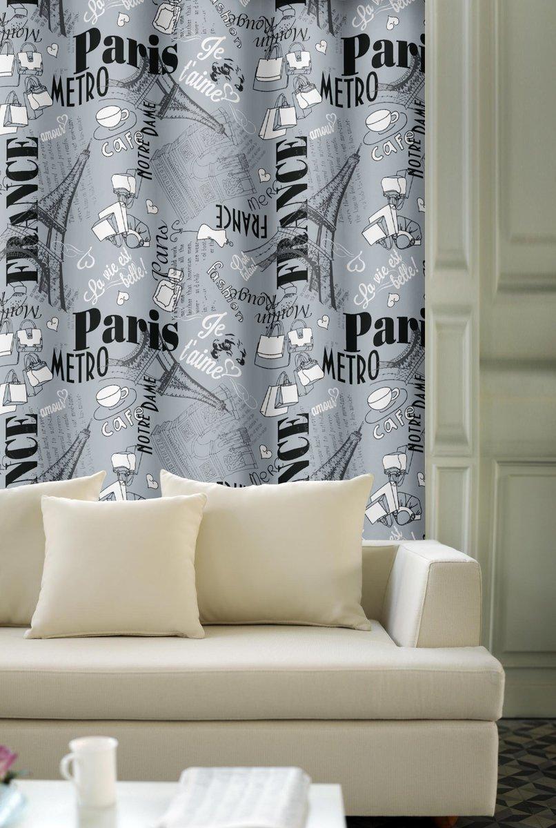 Forbyt, Dekorační závěs, OXY Paris s tunýlkem, šedý 250