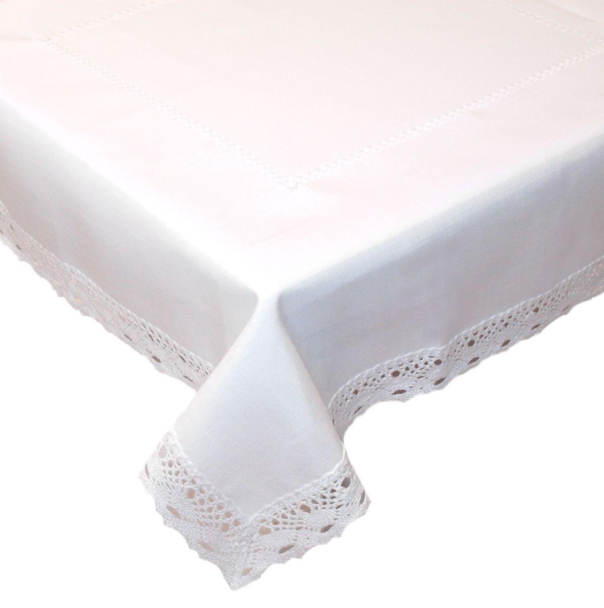 Forbyt, Ubrus celoroční, Vintage bílý, obdélník 120 x 140cm