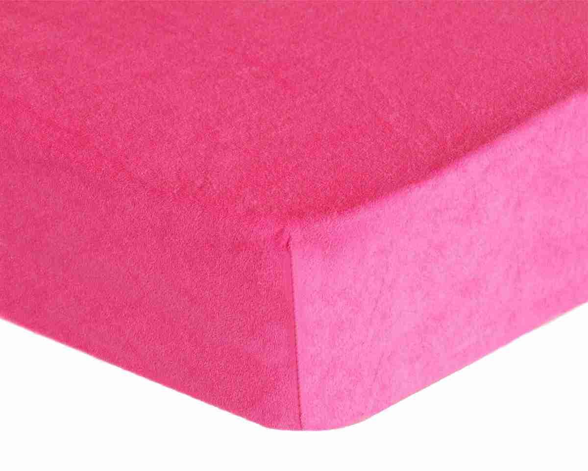Forbyt, Prostěradlo, Froté Premium, růžové 90 x 200 cm