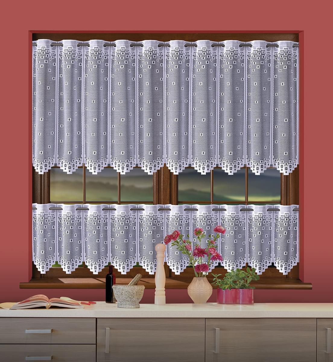 Forbyt, Hotová záclona, Amálie drapérka komplet, 250 x 40 + 250 x 60 cm 250 x 40 + 250 x 60 cm