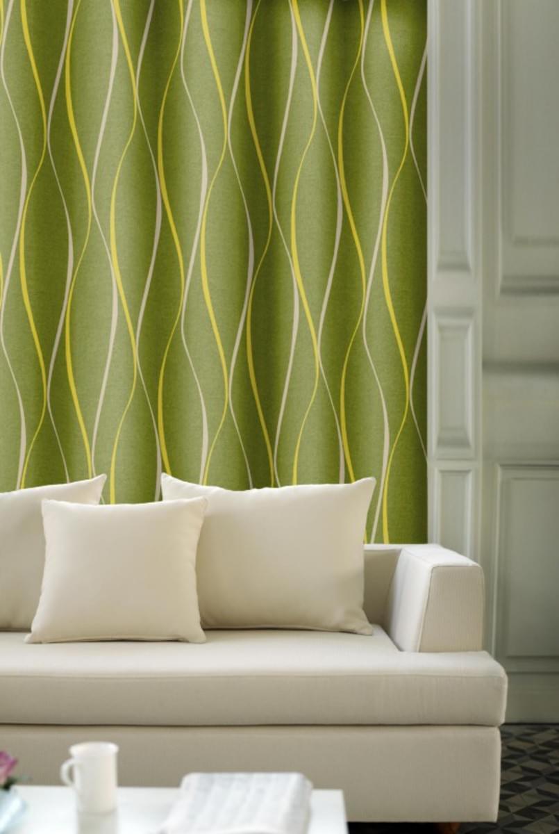 Forbyt, Závěs dekorační, OXY Vlnky 150 cm, zelené
