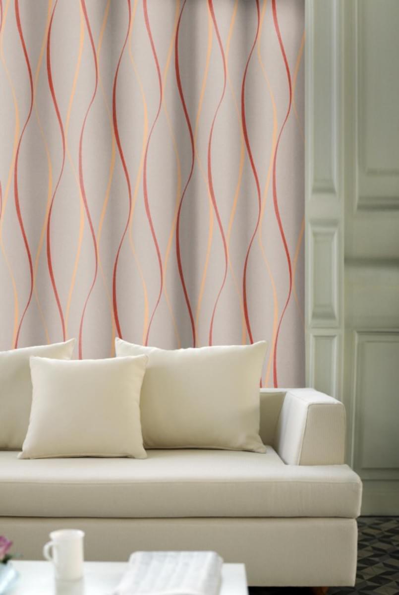 Forbyt, Závěs dekorační, OXY Vlnky 150 cm, oranžová