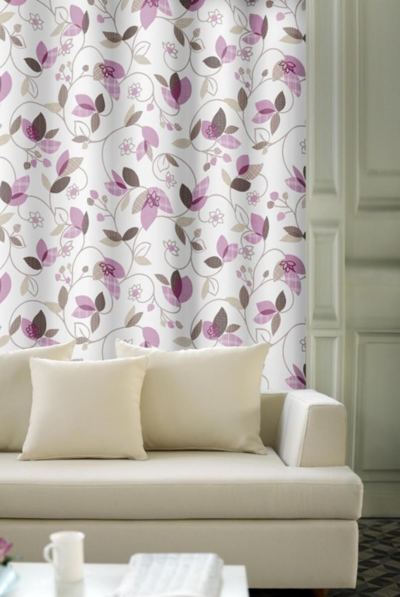 Forbyt, Závěs dekorační, OXY Listy, fialové, 150 cm